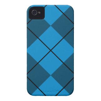 Argyle medio y azul marino iPhone 4 Case-Mate carcasa