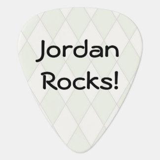 Argyle personalizado púa de guitarra