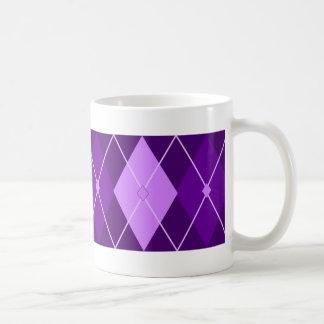 Argyle púrpura taza de café