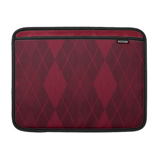 Argyle rojo funda para MacBook