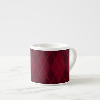Argyle rojo taza de espresso