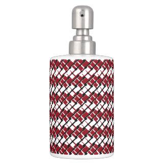 Argyle rojo y blanco único y fresco diseñó el set de baño
