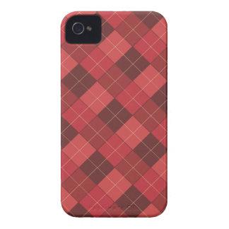 Argyle sofisticado en rojo, rojo, rojo carcasa para iPhone 4