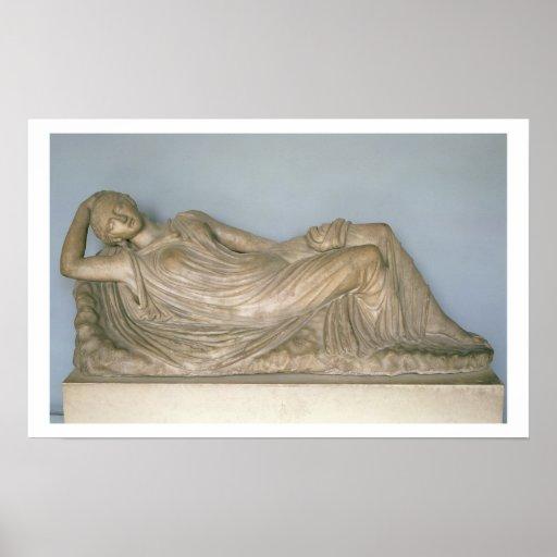 Ariadne dormido, helenístico de Alexandría, 2da c Posters