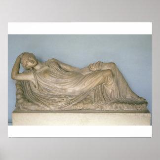 Ariadne dormido, helenístico de Alexandría, 2da c Póster