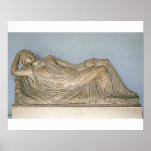 Ariadne dormido, helenístico de Alexandría, 2da c Impresiones