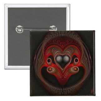 Aries el arte abstracto del espolón chapa cuadrada 5 cm