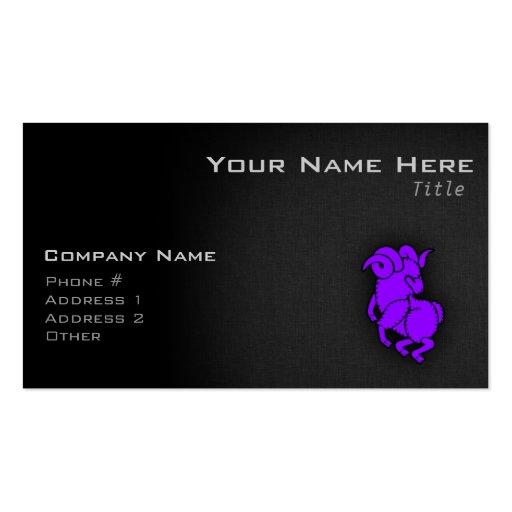Aries púrpura violeta tarjetas de visita