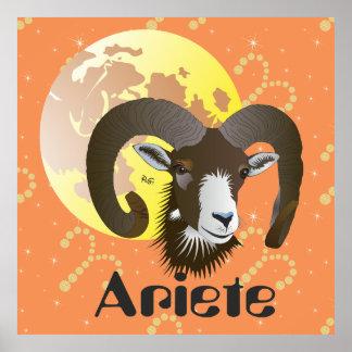 Ariete 21 al marzo 20 pósteres Aprile Póster