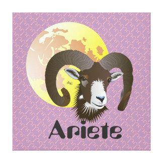 Ariete 21 al marzo 20 Stampa Aprile su tela Impresión En Lona Estirada