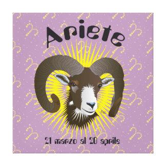 Ariete 21 al marzo 20 Stampa Aprile su tela Lona Envuelta Para Galerías