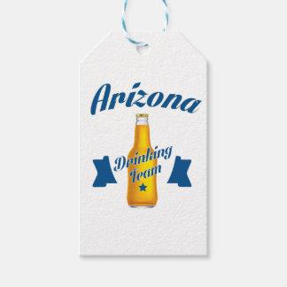 Arizona que bebe al equipo etiquetas para regalos