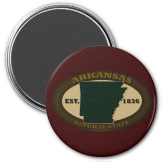 Arkansas Est. 1836 Imán Redondo 7 Cm