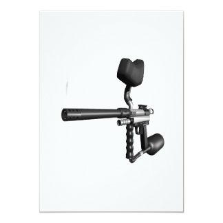 Arma 4 de Paintball Invitación 12,7 X 17,8 Cm