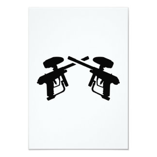 Arma cruzada de Paintball Invitación