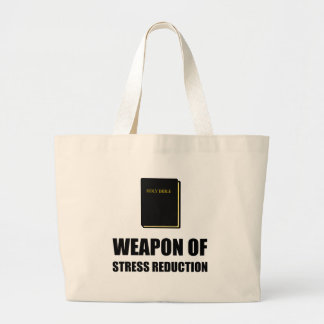 Arma de la biblia de la reducción del estrés bolso de tela gigante