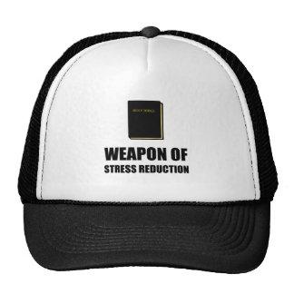 Arma de la biblia de la reducción del estrés gorros bordados