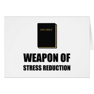 Arma de la biblia de la reducción del estrés tarjeta