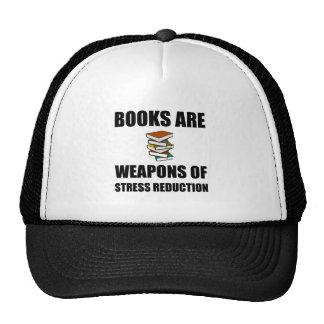 Arma de los libros de la reducción del estrés gorra