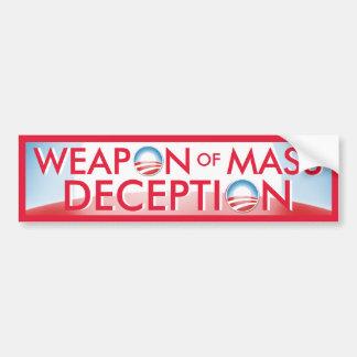 Arma de Obama del engaño total Pegatina Para Coche