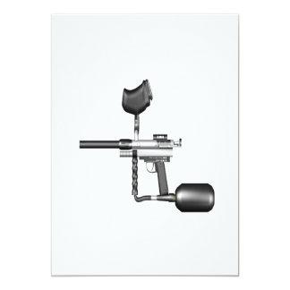 Arma de Paintball Invitación 12,7 X 17,8 Cm