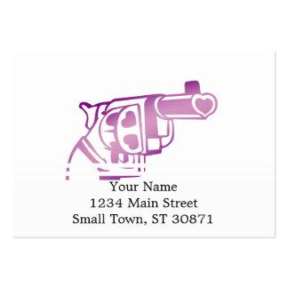 Arma del amor tarjetas de visita grandes