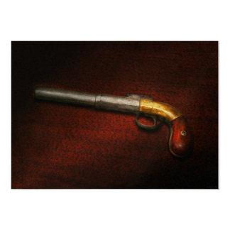 Arma - el hierro de tiroteo invitación 12,7 x 17,8 cm