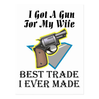 Arma para la esposa tarjeta postal