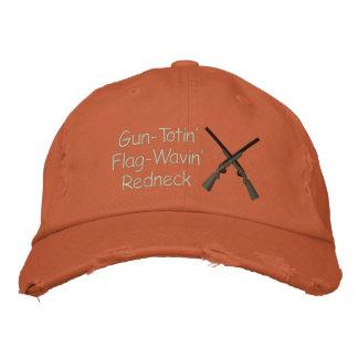 Arma y bandera orgullosos del campesino sureño gorra de beisbol