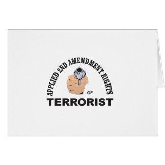 arma y terrorista en los E.E.U.U. Tarjeta