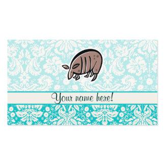 Armadillo lindo del dibujo animado tarjetas de visita