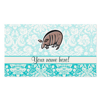 Armadillo lindo del dibujo animado plantillas de tarjetas personales