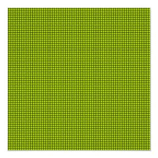 Armadura - amarillo fluorescente invitación 13,3 cm x 13,3cm