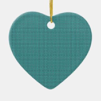 Armadura - azul eléctrico adorno de cerámica en forma de corazón