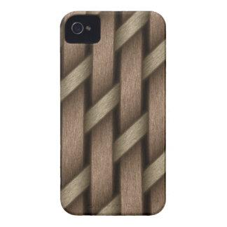 Armadura de Brown de la materia textil de la cesta Funda Para iPhone 4 De Case-Mate