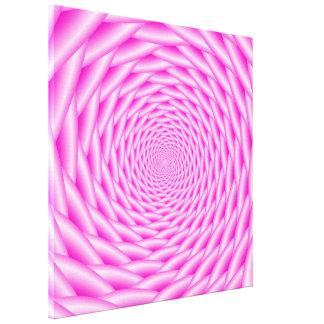 Armadura del espiral del rosa de la impresión de impresiones en lona