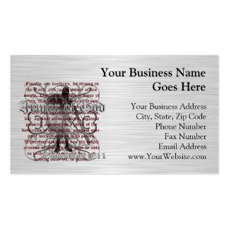 Armadura del soldado de dios tarjetas de negocios