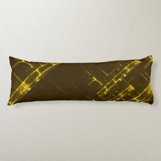 Armadura geométrica amarilla rústica del batik de