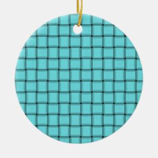 Armadura grande - azul eléctrico adorno redondo de cerámica