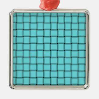 Armadura grande - azul eléctrico adorno cuadrado plateado