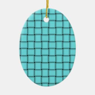Armadura grande - azul eléctrico adorno ovalado de cerámica