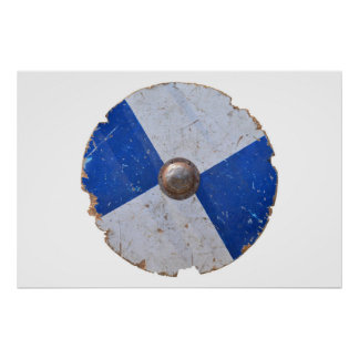 armadura metalizado de madera medieval del póster