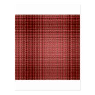 Armadura - rojo en colores pastel postal