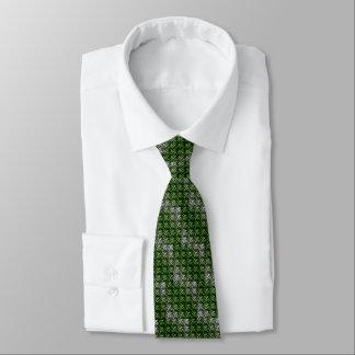 Armadura verde y blanca de la galleta corbatas personalizadas
