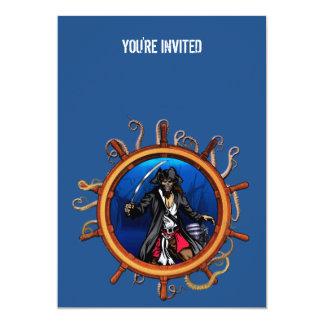 Armario de Davy Jones Invitación 12,7 X 17,8 Cm