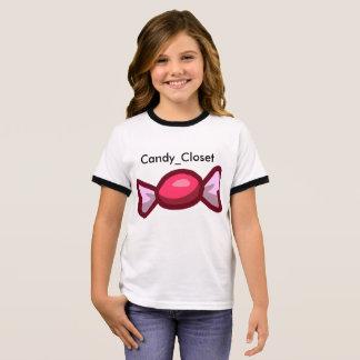 Armario del caramelo camiseta ringer