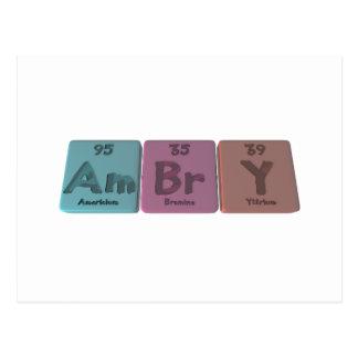 Armario-Ser-Br-y-americio-bromo-Itrio Postales