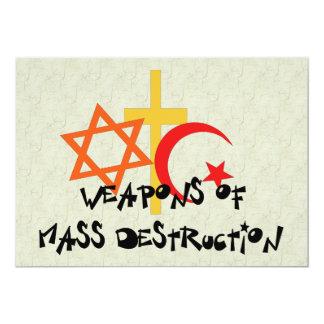 Armas de destrucción masiva invitación 12,7 x 17,8 cm