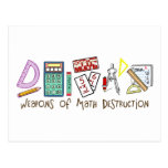 Armas de la destrucción de la matemáticas tarjeta postal
