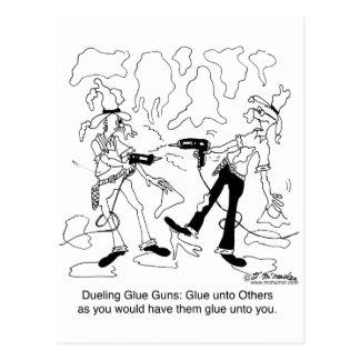 Armas de pegamento en duelo postal
